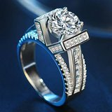 New Silver Plated Cubic Zirconia Ring for Women in Fort Drum, New York