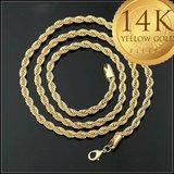 "New 14K Gold Filled Rope Chain 24"" in Watertown, New York"