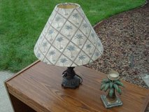 PALM TREE TABLE LAMP WITH PALM TREE VOTIVE CANDLEHOLDER in Naperville, Illinois