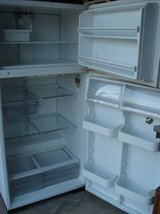 WHITE FRIGIDAIRE FRIDGE COMPLETE WITH SPICKET ON DOOR WITH ACCESSORIES in Naperville, Illinois