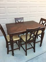 6-Pc Solid Wood Pub Height Dining Set in Travis AFB, California