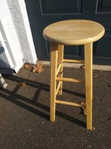 1 tall round wooden bar stool counter chairs in Sacramento, California