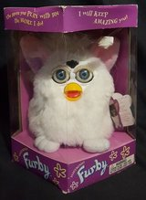 furby 1998 white pink ears blue eyes snowball 1st edition tiger in Springfield, Missouri