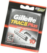 gillette trac ii plus razor blades with lubrastrip authentic -10 cartridges in Springfield, Missouri