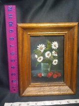american primitive floral  farmhouse painting in oak wood frame   free  shipping in Springfield, Missouri