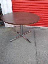 Large Round Dining table with Chrome base in Fairfield, California