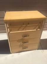Solid Wood MidCentury Chest of Drawers and Matching Desk/Vanity in Travis AFB, California