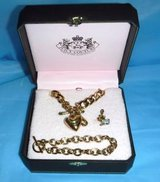 Juicy Couture Classic Gold tone Necklace & Bracelet Charm Starter Set in Naperville, Illinois