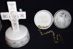 My 1st Communion Rosary + Music Box -OR- Precious Moments Cross in Chicago, Illinois