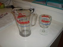 HAMM'S Born in the and of sky blue waters 60oz Beer Pitcher Goblet in Brookfield, Wisconsin