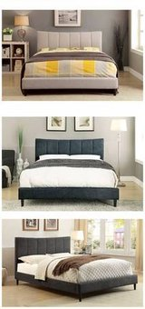 New! QUEEN Beige or Blue or Gray Bed Frame FREE DELIVERY in Oceanside, California