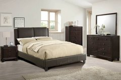 New! Chocolate California KING Bed Frame FREE DELIVERY in Oceanside, California