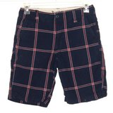 Vintage Sears Roebuck Co Blue Plaid Red White Window Pane Shorts Mens 30 x 10 in Chicago, Illinois