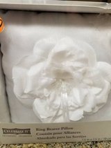 Ring Bearer white satin pillow new in box in Temecula, California