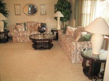 LIVING ROOM FURNITURE - Sofa, Loveseat, Accent Chair, Artwork, Faux Accent Trees, etc. in Joliet, Illinois