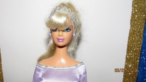 2004 Chic Boutique Fashion Doll Barbie Clone Long Platinum Blonde Lavender Silver Dress in Macon, Georgia