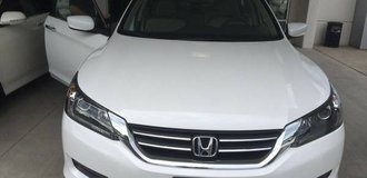 2015 HONDA ACCORD LX, polished white, 4-door,beige interior in Fort Lewis, Washington