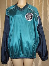 Seattle Mariners pull over jacket windbreaker Adult large MLB baseball genuine merch in Fort Lewis, Washington