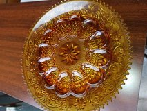 Tiara Indiana Glass Deviled Egg Plate Dish Gold Amber Color in Sacramento, California