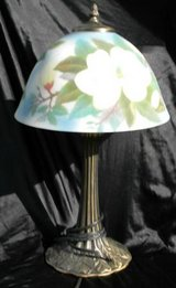 Desk / Table Lamp with Painted glass shade in Camp Lejeune, North Carolina