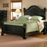 King Size Heirloom Poster Bed and Dresser Set (Black) - NEW! in Lockport, Illinois
