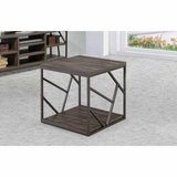 Studio Living Collection End Table (Weathered Gray) - NEW! in Plainfield, Illinois