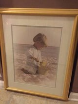 ~PROFESSIONALLY FRAMED PRINT~BOY ON BEACH~ in Naperville, Illinois