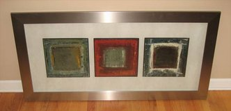 "ART - Large 54 1/2"" x 27 1/2"" Framed & Matted Abstract Wall Art in Naperville, Illinois"