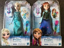 DISNEY FROZEN CRYSTAL GLOW ELSA & CRYSTAL GLOW ANNA BRAND NEW!! PRINCE in Plainfield, Illinois