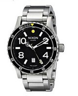 Nixon Men's Diplomat SS Analog Display Swiss Quartz Silver Watch in Aurora, Illinois