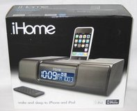 iHome iP9 Clock Radio & Audio System For iPhone & iPod in Original Box in Wheaton, Illinois
