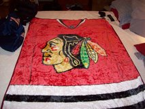 CHICAGO BLACKHAWKS FLEECE BLANKET in Glendale Heights, Illinois