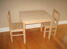 IKEA Children's Table and 2 Chairs - Wood in Joliet, Illinois