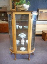 Antique Oak Curio Cabinet in Aurora, Illinois