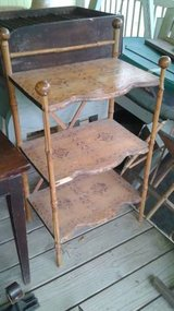 Vintage Solid Wood Shelf Stand Table in The Woodlands, Texas