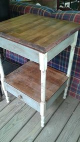 Antique Solid Wood Side Table in The Woodlands, Texas