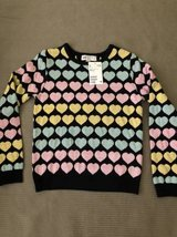 H&M Girls Sweater size 6/8 valentines Day Hearts in Bolingbrook, Illinois