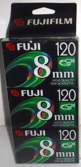 New! Fuji P6-120 8mm HQ Video Cassette Tapes ~ 3 Pack in Naperville, Illinois