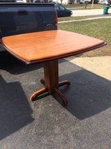 Solid wood 2 tone counter height kitchen table in Oswego, Illinois