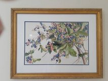 Bluesberries - 3 pc grouping - Watercolor by S. Littlefield in Fort Rucker, Alabama