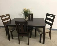 5 pc Bankston Dining Table & Chair Set - NEW! in Naperville, Illinois