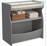 Delta Children Gateway 2-in-1 Changing Table and Storage Unit (Gray) - in Chicago, Illinois