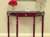 Frenchi Storage Console Table (Cherrywood) NEW! in Chicago, Illinois