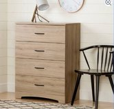 South Shore SoHo 4-Drawer Chest (Rustic Oak) - NEW! in Chicago, Illinois