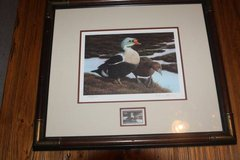 1991 Nancy Howe Numbered Signed ; Framed Federal Duck  Stamp Print in Spring, Texas