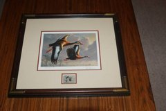 1989 Jim Hautman Numbered & Framed Federal Duck 12.5$ Stamp Print in Spring, Texas