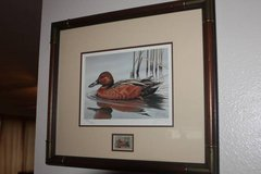 1986 Federal Duck Stamp & Signed / Numbered Print by G Mobley - Framed in Spring, Texas