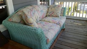 Wicker couch in Beaufort, South Carolina