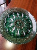 Indian Glass Blue/Green Deviled Egg Server in Travis AFB, California