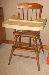 FISHER PRICE Vintage Wood High Chair in Wheaton, Illinois